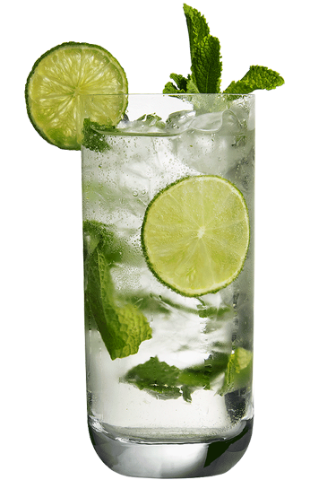 Glas met limoenen