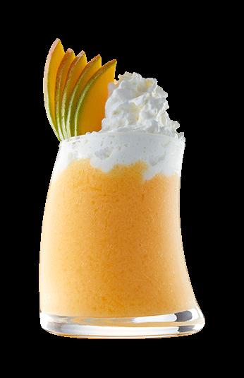 Mango limonade in glas